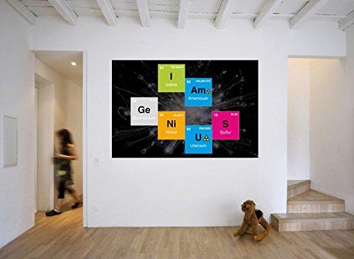 Humour papier peint photo poster autocollant i am genius - Papier peint humour ...