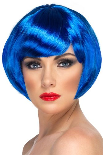 Smiffy'S Babe Wig, Blue, One Size