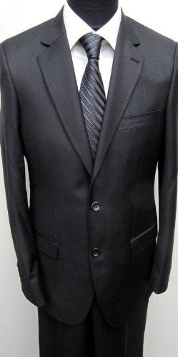 MUGA mens Suit elegant, Slim-line, Black, Size 48R (EU 58)