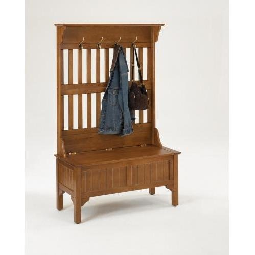 Home Styles 5649 49 Hall Tree Storage Bench Coat Rack