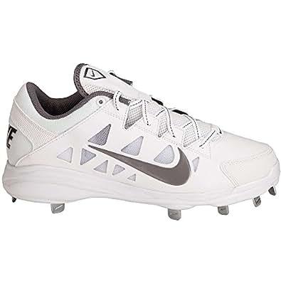Nike Women's Hyperdiamond Pro Metal Softball Cleats, White/White, SZ 8
