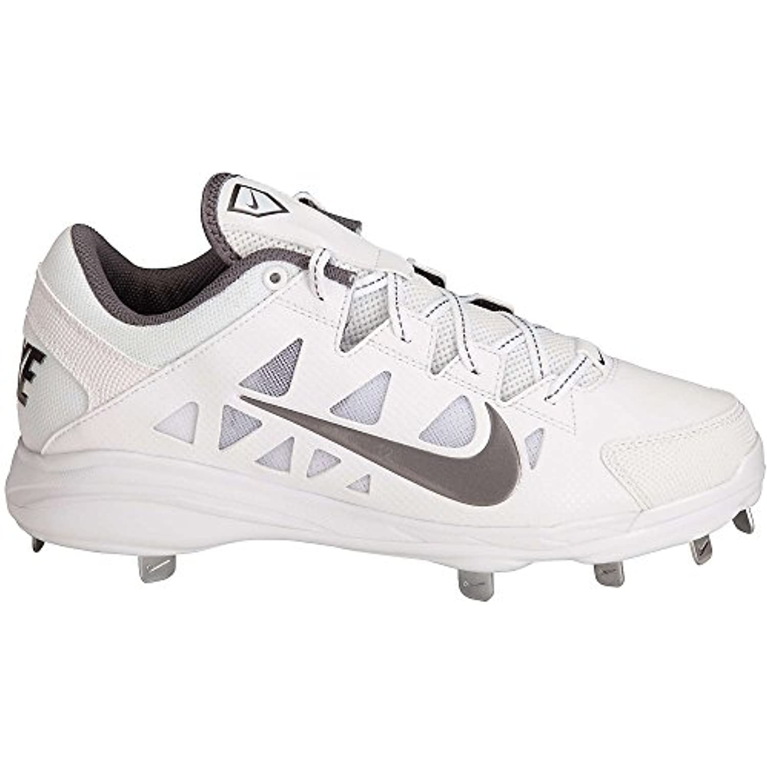 ... Nike Women\u0027s Hyperdiamond Pro Metal Softball Cleats, White/White, SZ 8