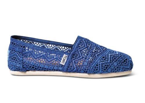 Toms - Womens Classic Slip-On Shoes In Cobalt Blue, Size: 5 B(M) US, Color: Cobalt Blue