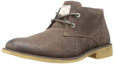 Calvin Klein Jeans Men's Quent Suede Boot,Dark Brown,7 M US