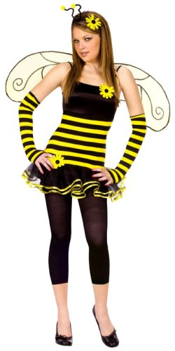 Fun World Costumes Junior's Teen Honey Bee, Yellow, Junior (Size: 7-9/Medium)
