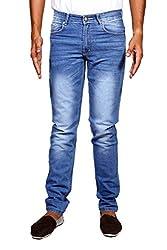 John Wills Men's Slim Fit Jeans (MCR1044, Blue, 30)