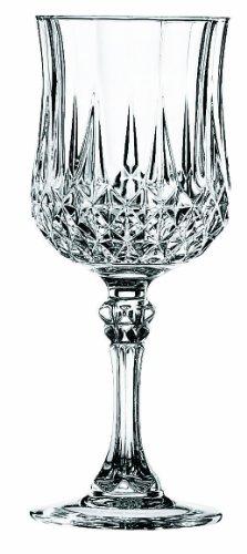 Cristal d'Arques, Longchamp Verre de vin 170ml, sans repère de remplissage, 6 Verres