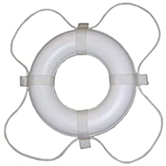 Buy Taylor Made Products 361 24-Inch Polyurethane Foam Marine Life Ring with Grab Lines-White by Taylor Made Products