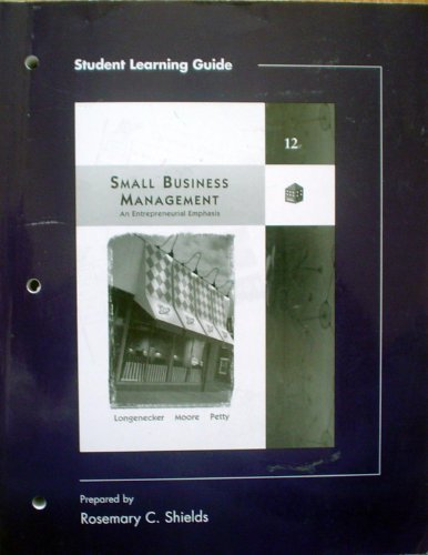 Student Learning Guide for Small Business Management
