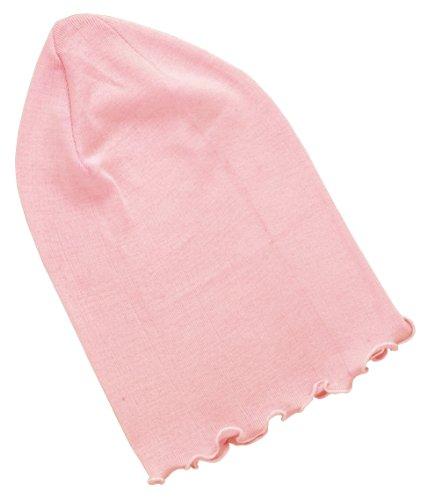シルクおやすみ帽子ピンク
