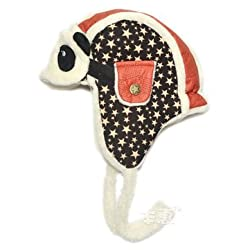 Winter Baby Kids Lovely Earflap Plush Panda Pilot Invierno Hats Aviator Hat Bomber Children Masks Caps Gorro - Red