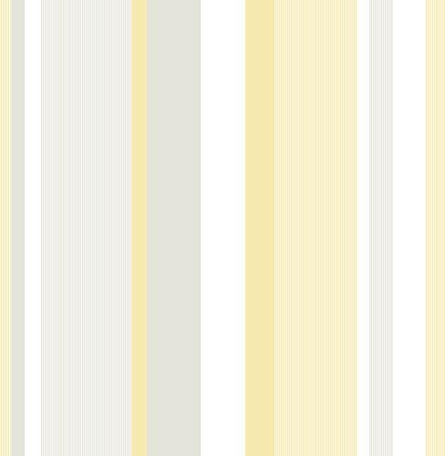Nuwallpaper toldo dise o de rayas amarillo peel and - Papel pintado amazon ...