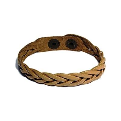 AUTHENTIC HANDMADE Leather Bracelet, Men Women Wristbands Braided Bangle Craft Multi [SKU001967]