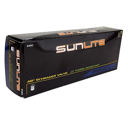 Sunlite Thorn Resistant Schrader Valve Tube, 700 x 35-43  / 48mm, Black