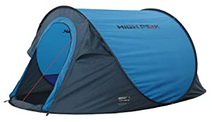 High Peak Texel 3 Tent - Blue/Dark Grey, One Size
