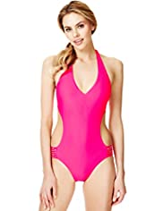 Halterneck Cut-Out Swimsuit