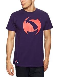 Samurai Gym Gear Herren-T-Shirt mit großem Logo Violett pflaume Xxx-large