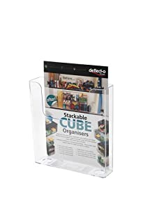 Deflecto Flatback Literature Holder Wall-mounted Single-Pocket Portrait A4 Clear Ref 76401