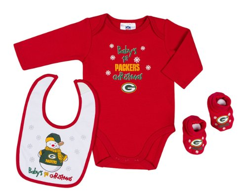 NFL Green Bay Packers Baby's 1st Christmas 3 Piece Dress up Outfit at Amazon.com