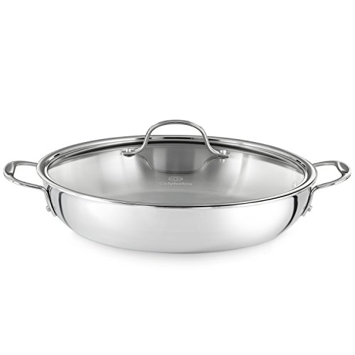 Calphalon Tri-Ply 12-Inch Stainless Steel Everyday Pan with Cover (Stainless Steel Casserole Pan compare prices)