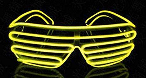 (ゴールドガーデン) Goldgarden 光る LED 眼鏡 メガネ サングラス 余興 アイテム 蛍光 選べる 3 色 パーティ イベント 宴会 (イエロー)