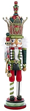 Kurt Adler Hollywood Red and Green Nutcracker with Crown 20-Inch