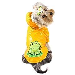 Happy Frog Dog Raincoat Size: Medium
