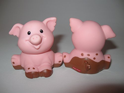 Fisher Price Little People Animal Sounds Farm Barn Zoo Castle Replacement TINY Baby Pig Pigglet Both Paws Down OOP 1997 - 1