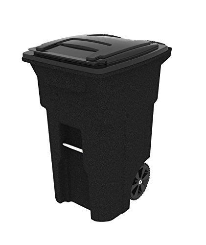 Toter 025564 R1209 Residential Heavy Duty Two Wheeled Trash Can With Attached