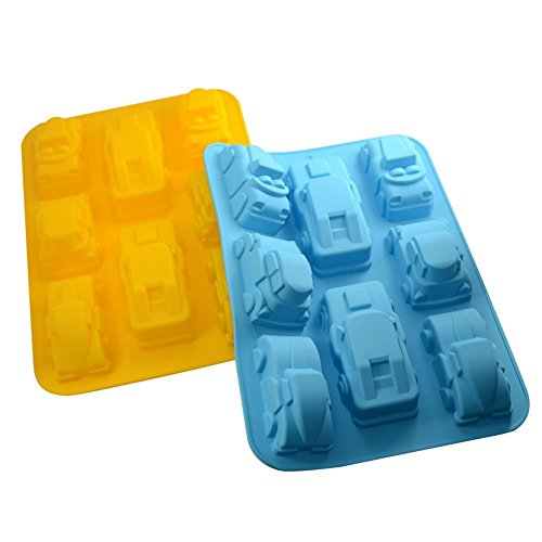 2 Pcs Car Mold Silicone Jello Chocolate Pudding Non-stick Bread Cake Mold Baking Roasting Mould and Baking Pan (Cars 2 Cake Pan compare prices)
