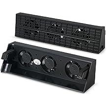 Alcoa Prime Professional Ultra Slim Engine Cooling Fan For Ps4 Slim Gaming Console Temperature Control Fan DC 5v Black - B01NBQOD3O