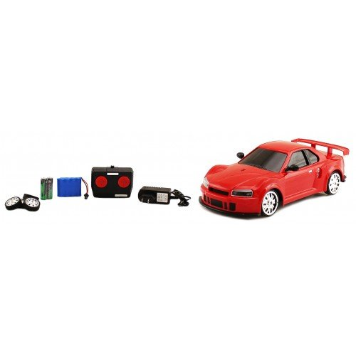 1:18 Scale Nissan Skyline GTR R34 Electric RTR RC Drift Car Full Function Remote Control High Quality Drift Car (Colors May Vary)