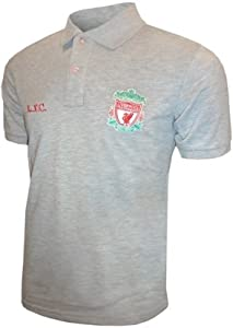 Liverpool Fc Classic Crest Polo Shirt Kids Grey 2-3 Years by Liverpool FC