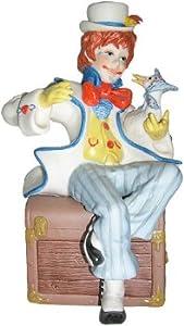 """Cybis hand painted porcelain clown sculpture entitled """"Jumbles & Friend"""