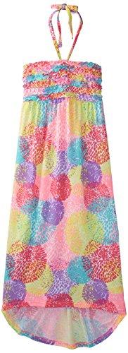 Derek Heart Big Girls' Ruffled High Low Maxi Dress