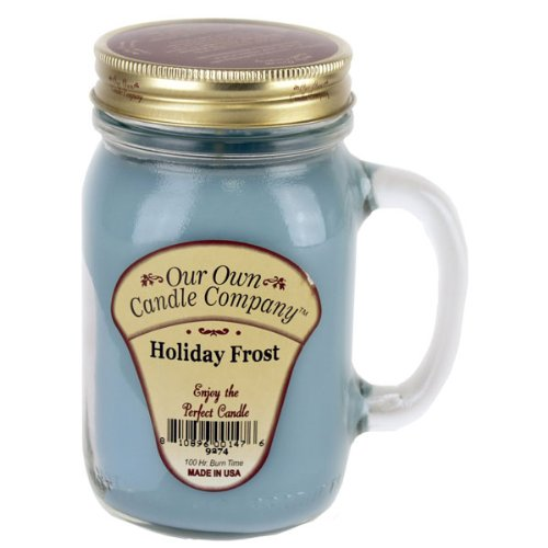 13oz HOLIDAY FROST Scented Jar Candle (Our Own Candle Company Brand) Made in USA - 100 hr burn time