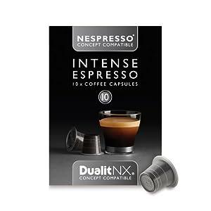 50 Nespresso Concept Compatible Dualit NX Capsules (Intense Espresso)
