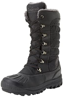 Timberland Women's 21645 Earthkeepers Mount Holly Tall Lace Duck Boot,Black/Black,7 M US