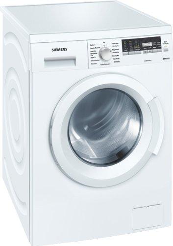Siemens WM14Q441 Waschmaschine Frontlader / A+++ B / 174 kWh/Jahr / 1400 UpM / 7 kg / 8140 liter/Jahr / Hemden/Business Programm / super15 / weiß / EcoTopTen
