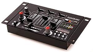 Ibiza DJ21USB-MKII Table de mixage Noir