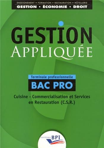 Gestion appliqu e cuisine commercialisation et services - Sujet bac pro cuisine ...