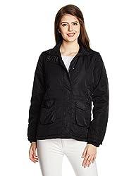 People Women's Parka Casual Jacket (P20402115248170_Black_XS )