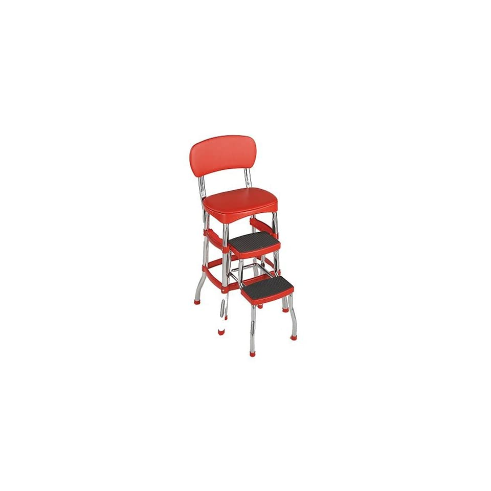 Cosco 11120red1 Retro Chair Step Stool Red On Popscreen