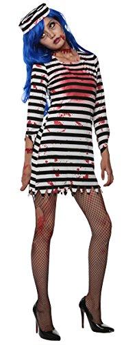 [Cohaco Women's Horror Zombie Prizoner Costume (M)] (Zombie Costume For Female)