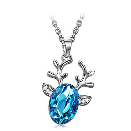 JNINA-Happy-Christmas-Reindeer-made-with-Blue-Bright-Swarovski-Crystals-Children-Ideal-Gifts-Womens-Girls-Deer-Pendant-Necklace