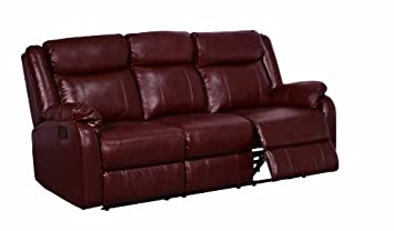 Global Furniture Reclining Sofa - Burgundy