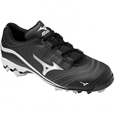 Mizuno Womens 9-Spike Watley G3 Switch Molded Cleats 11 1/2 Us Black/White Black|White 11 1/2 US