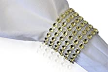buy Rhinestone Style Napkin Rings (20 Pieces, Gold)