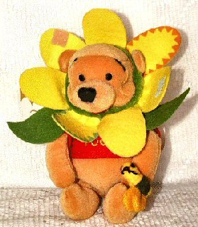 Disney Mini Bean Bag New Flower Pooh - 1