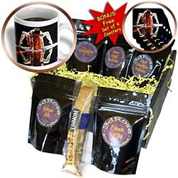 Kike Calvo Dance - Ballerina dressed up with a Spanish style orange dress, performing on a silver surface - Coffee Gift Baskets - Coffee Gift Basket